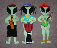 Felt Alien Band by LucidPetroglyphs666