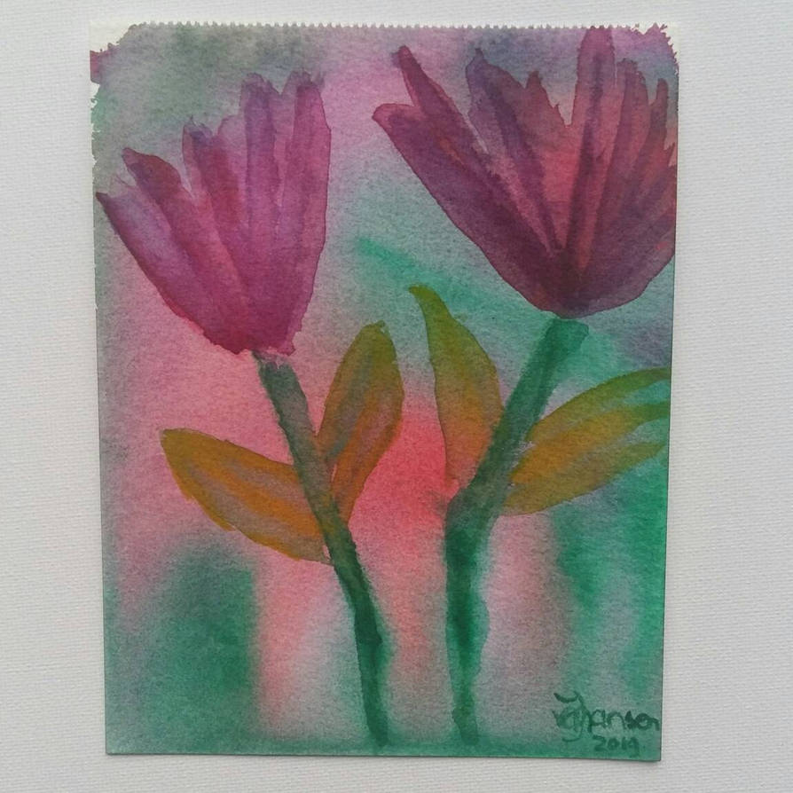A small sunday tulips  by Jacqiesart