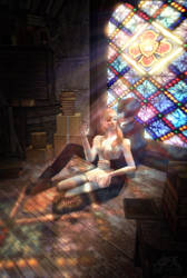 Lissa and Christian in the Attic by GPhoenix