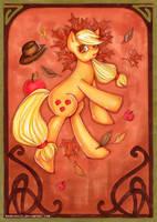 Mucha Posters: Applejack by MadBlackie