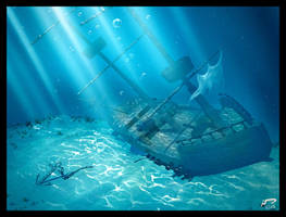 3D Sunken Ship by Majoh