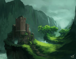 Wind Valley Castle by Majoh
