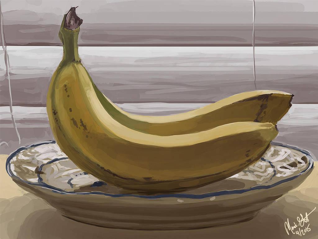 Bananas still life by Majoh