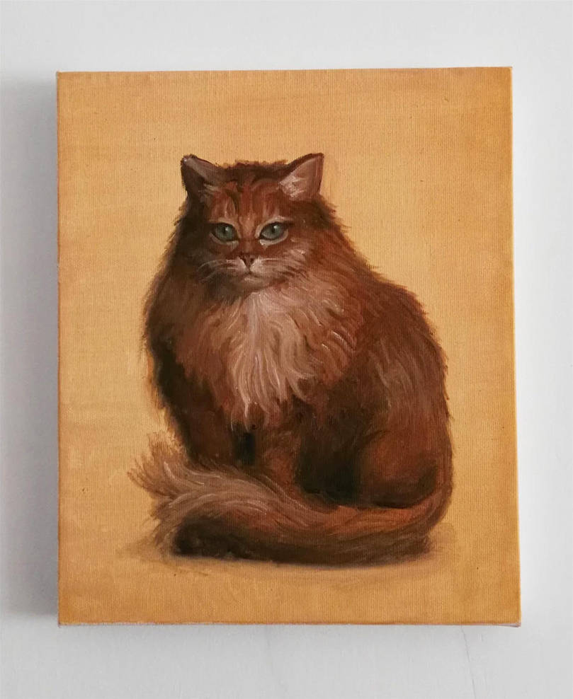 Cat Painting by Exidelo