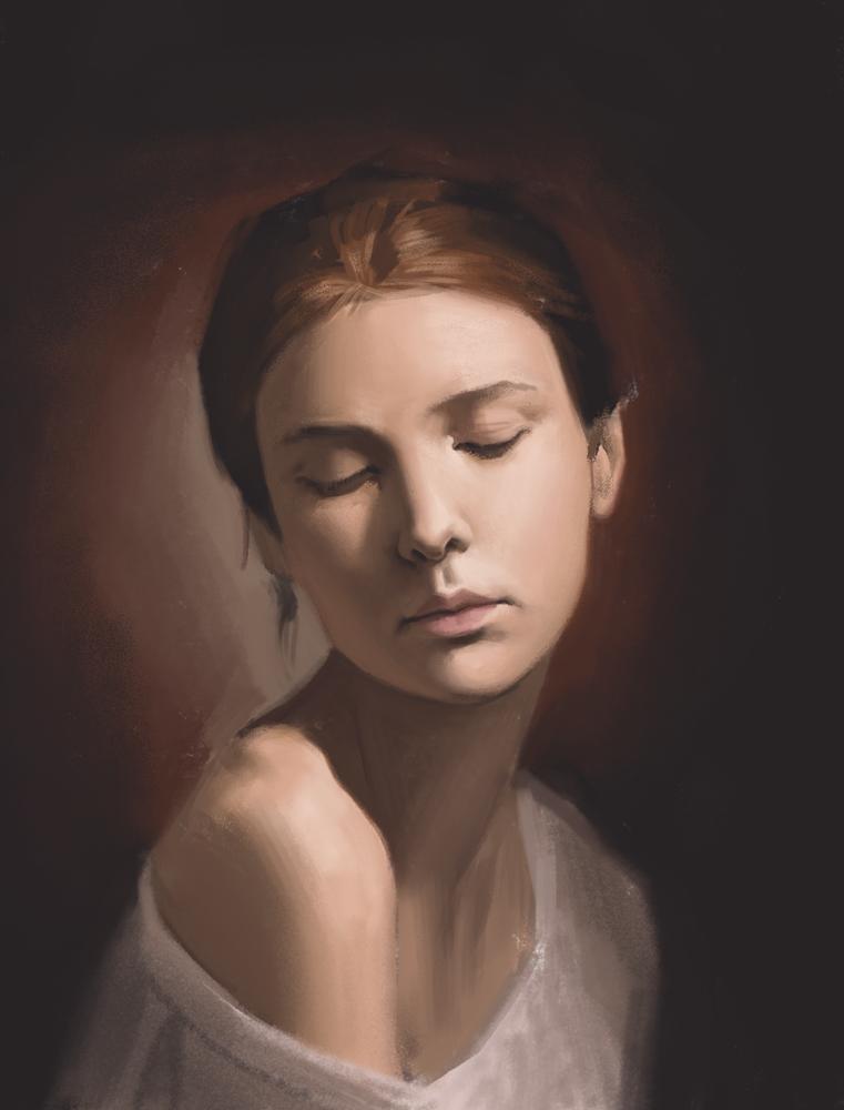 Portrait Study 9 by Exidelo
