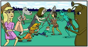 ARW battle by DungeonWarden