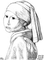 Head of a Young Girl by DungeonWarden