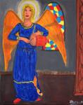 Angel Drummer by DungeonWarden