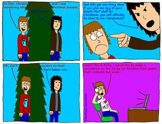 Dan Comics No.22 - Christmas 1 by The-Happy-Spaceman