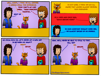 Dan Comics No.65 - New Girl in Town 18 by The-Happy-Spaceman