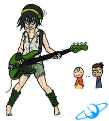 Sketch: Punk Toph by The-Happy-Spaceman