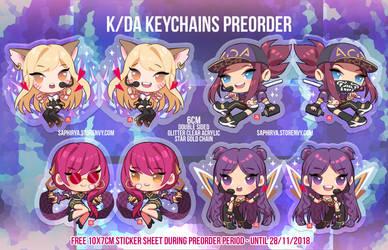 K/DA keychain preorder by Saphirya