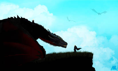Jon Meets Drogon by maxbeechcreative