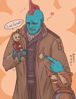 Yondu and Rocket and Groot 2 by J-666