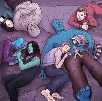 Sleeping Guardians by J-666