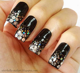 Glamorous Glitter Nail Art Design by everbella