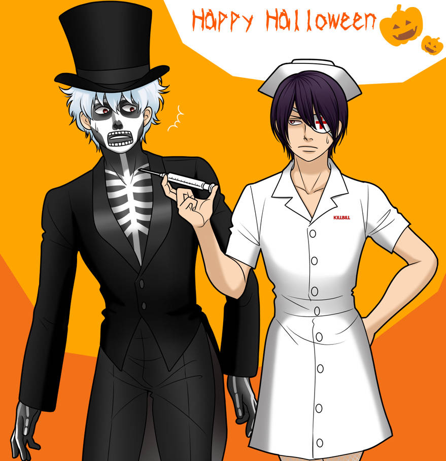 Halloween gintama by Xhaowrong