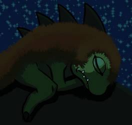 Gizamon sleeping by Hot-dog-cat