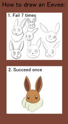 How to draw an Eevee by Hot-dog-cat