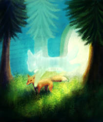 Foxes by Hot-dog-cat