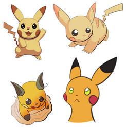 Pikachu and Raichu practice by Hot-dog-cat