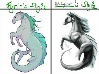 Art style meme with FyrirRaan's Hippocampus by Hot-dog-cat