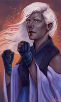 Commission - Drow Elf monk by point-maitimo