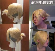 Annie Leonhardt Wig WIP by BleachcakeCosplay