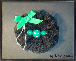 'Greenny' brooch by CtrlMissAnn
