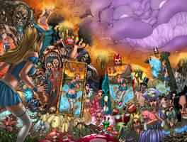 All HELL breaking loose in Wonderland by jembury