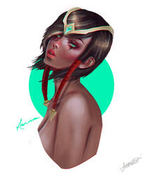 Karma (League of Legends) by moniecf
