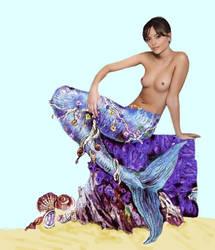 Jenna-Louise Coleman fakes mermaid by mplumb