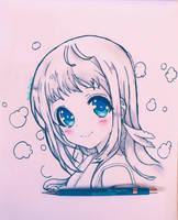 [Fant Art] Manaka Mukaido. by Hiroki-Ajame