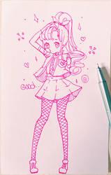 Sketch - Happy birthday MroczniaK by Hiroki-Ajame