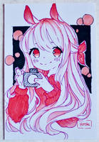 bunny selfie oc by Hiroki-Ajame