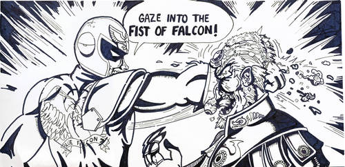GAZE INTO THE FIST OF FALCON! by ImBillPardy