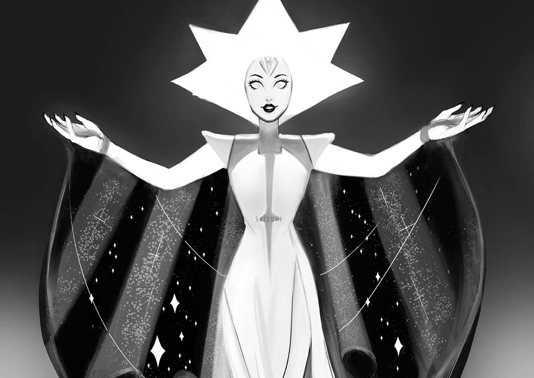 """Hello Starlight"" White Diamond from Steven Universe fanart :3 Don't use or repost my drawings w/o permission, thank you!"