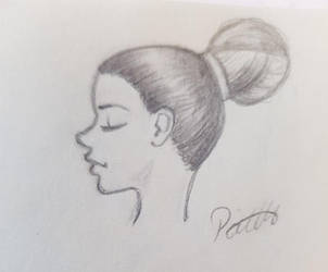 Simple profile sketch by pnscribbles