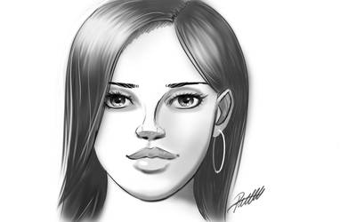 Face sketch by pnscribbles