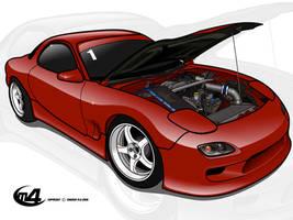 Mazda rx7 by m4gnus