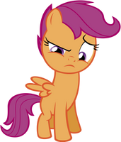 Scootaloo Is Not Amused by flutterguy317