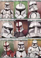 Clone Wars cards by ragelion