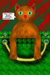 Christmas Gift Bag Cat by LadyIlona1984