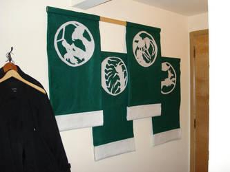 Mantis Clan Famlies' Banner by bremathon
