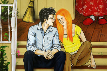 Harry and Ginny - Summer at the Burrow by Elwy