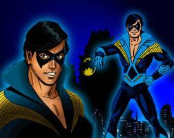 Retro Nightwing 1980's by bat123spider