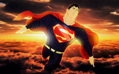 Super-man Justice League animated style by bat123spider