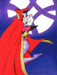 Doctor Strange and Clea kiss by SatyQ