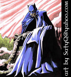 Batman's grim discovery by SatyQ