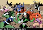 Fantastic 4 Femmes vs X-Women by SatyQ